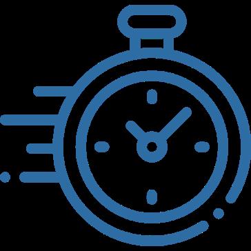Clock Icon - Blue